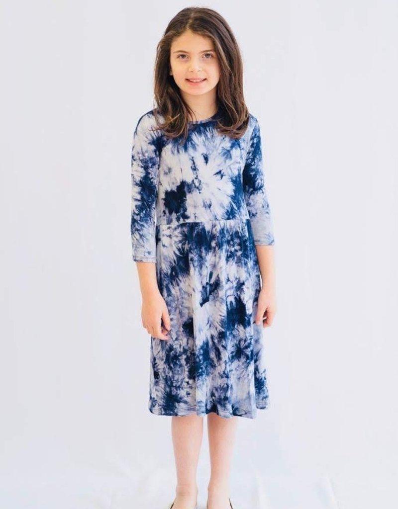 KMW Girls' tie dye tunic dress