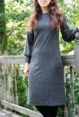 Ivee Black w/silver pinstripes loose dress