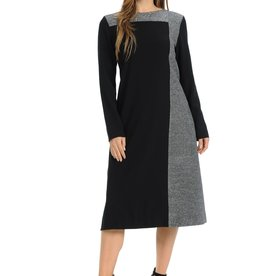 Edera Color Block Metalic Dress