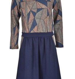 Blue Violet Rhonda Geometric w/pkts dress