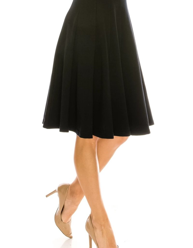 Chi Chi CC 199 French Terry 12 panel skirt