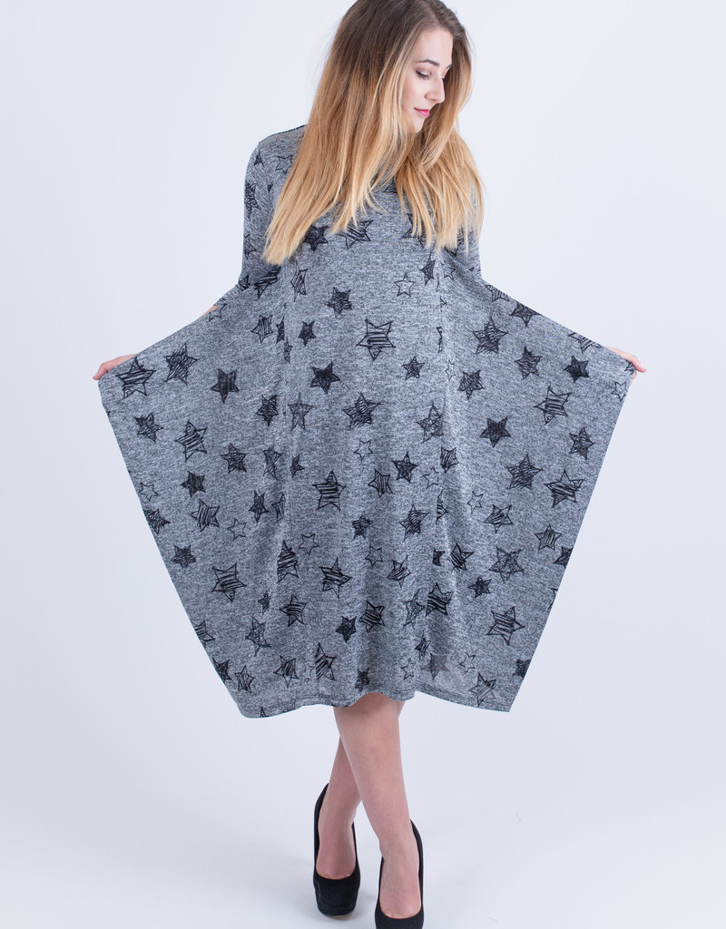 """KMW """"Boho"""" style knit w/stars"""