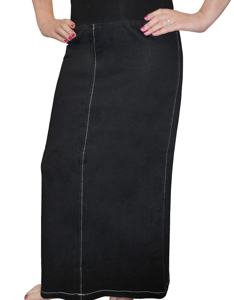Kosher Casual Straight maxi w/stretch waistband