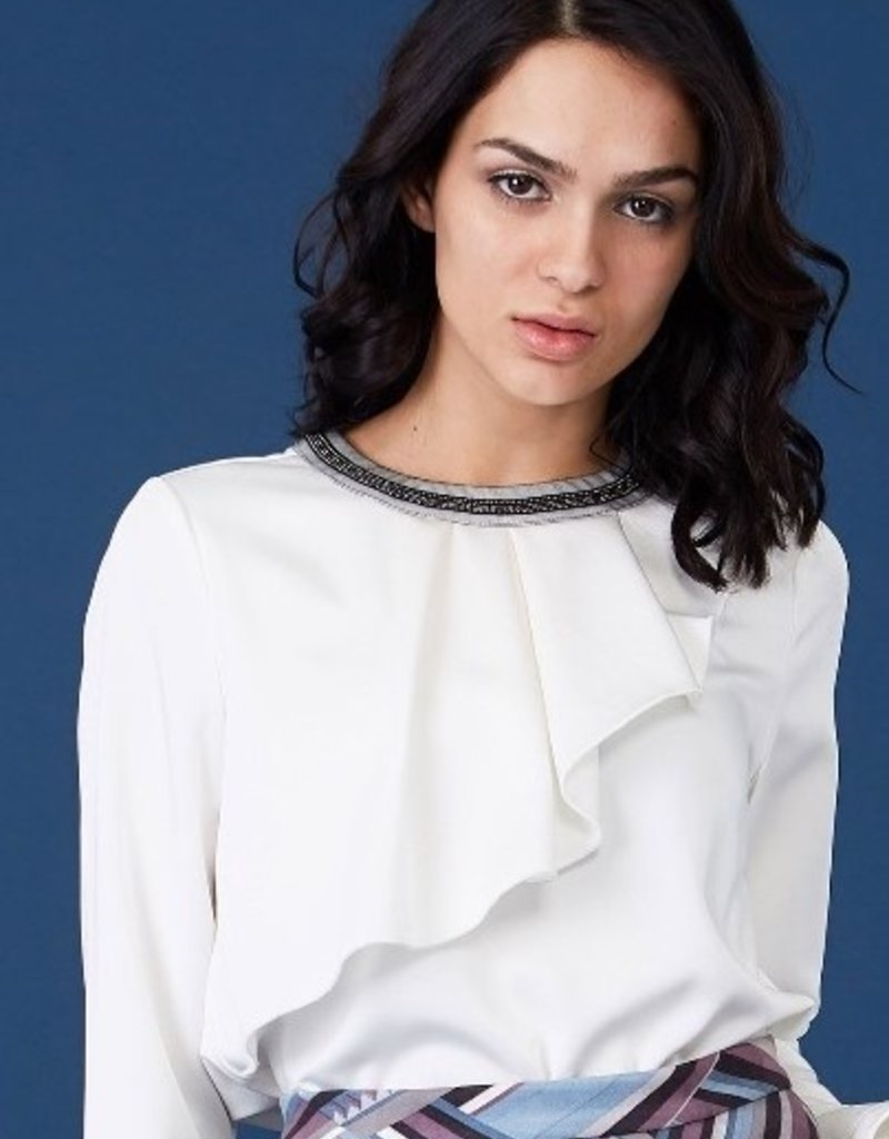 PTA Satin blouse round collar 195003