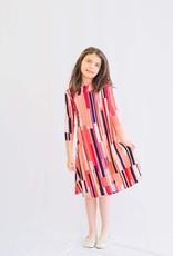 KMW Girls tunic coral stripe dress