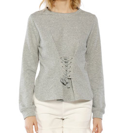 Walter Baker Heather/white laced top