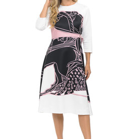 Ivee Wrap belt print dress
