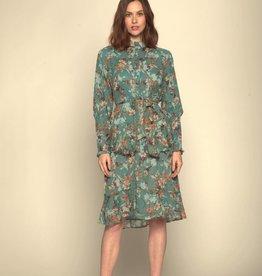 Walter Baker Sara dress TEAL floral chiffon