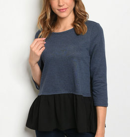 Entro Navy Black Top
