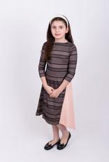 KMW EYELET COLOR BLOCK DRESS