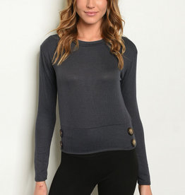 Ginger G Charcoal Top