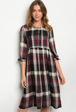 Orange Creek Checkered Dress