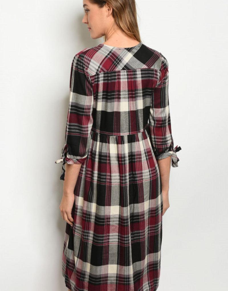 Orange Creek Checkered Dress