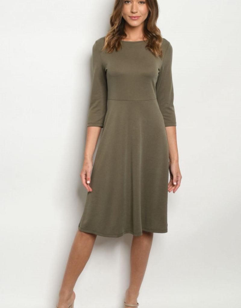Lulus Olive Dress