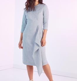 Modest Peoples Fit and flare w/sewn in sash, pockets
