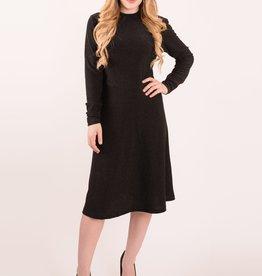 KMW Black lurex mock turtle dress