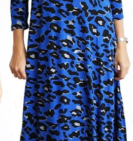 Genux Royal leopard jersey dress