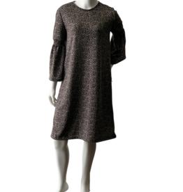 KMW Gray Leopard Smock Dress