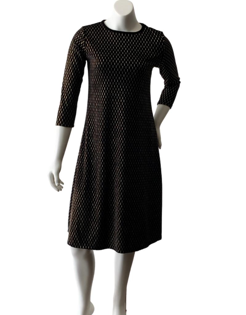KMW Black Velvet w/gold tunic dress
