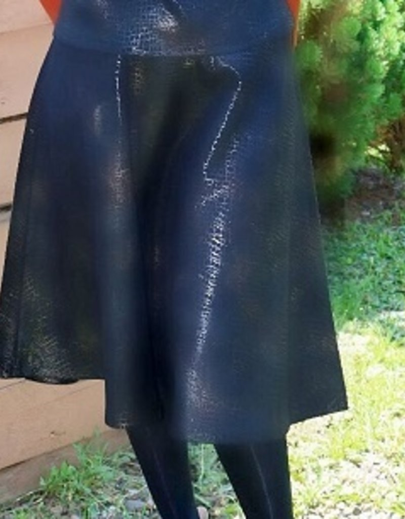 Ivee Black sueded metallic aline skirt