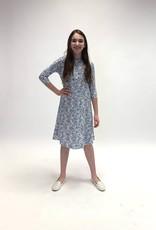 KMW Blue-white jacquard tunic dress
