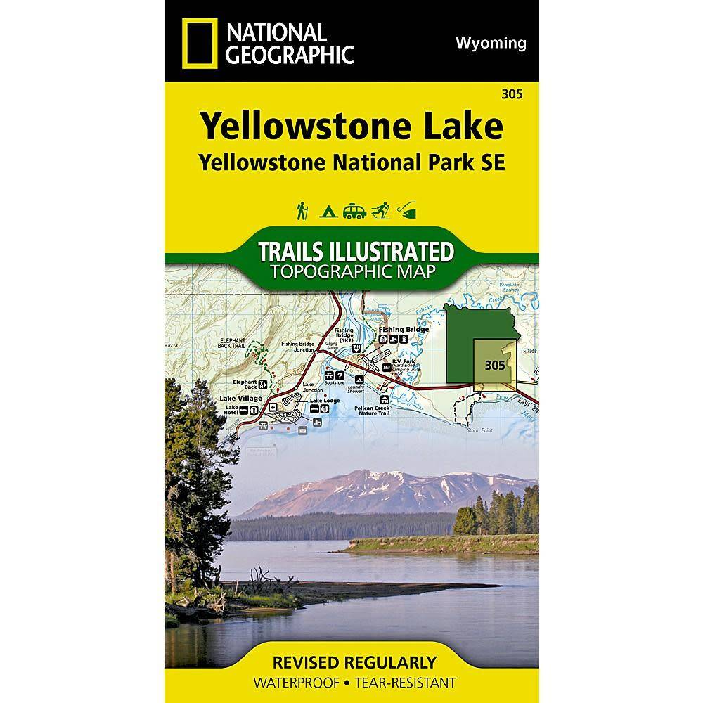 National Geographic Yellowstone Maps