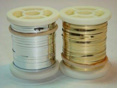 Danville Flat Mylar Tinsel Gold/Silver