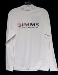 Simms Fishing Simms Solarflex Crewneck Prints - USA White - 50% Off!!