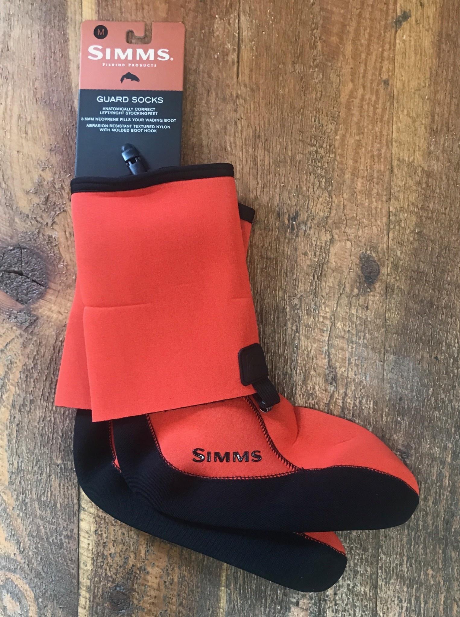 Simms Guard Socks Fury Orange Medium 50% Off