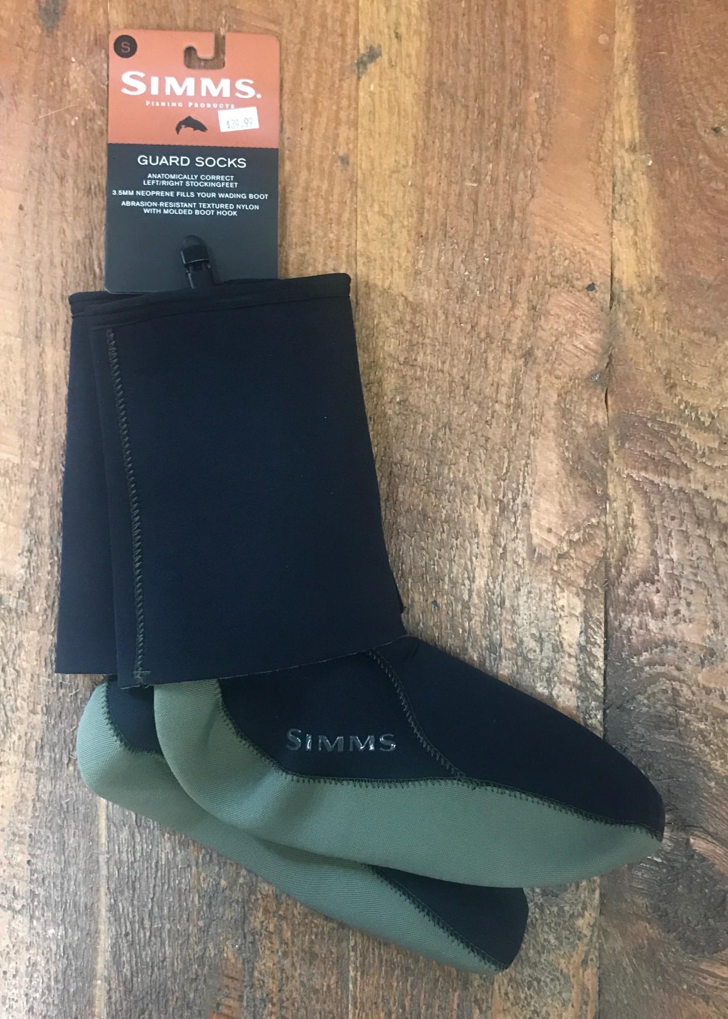 Simms Guard Socks Black Small 50% Off