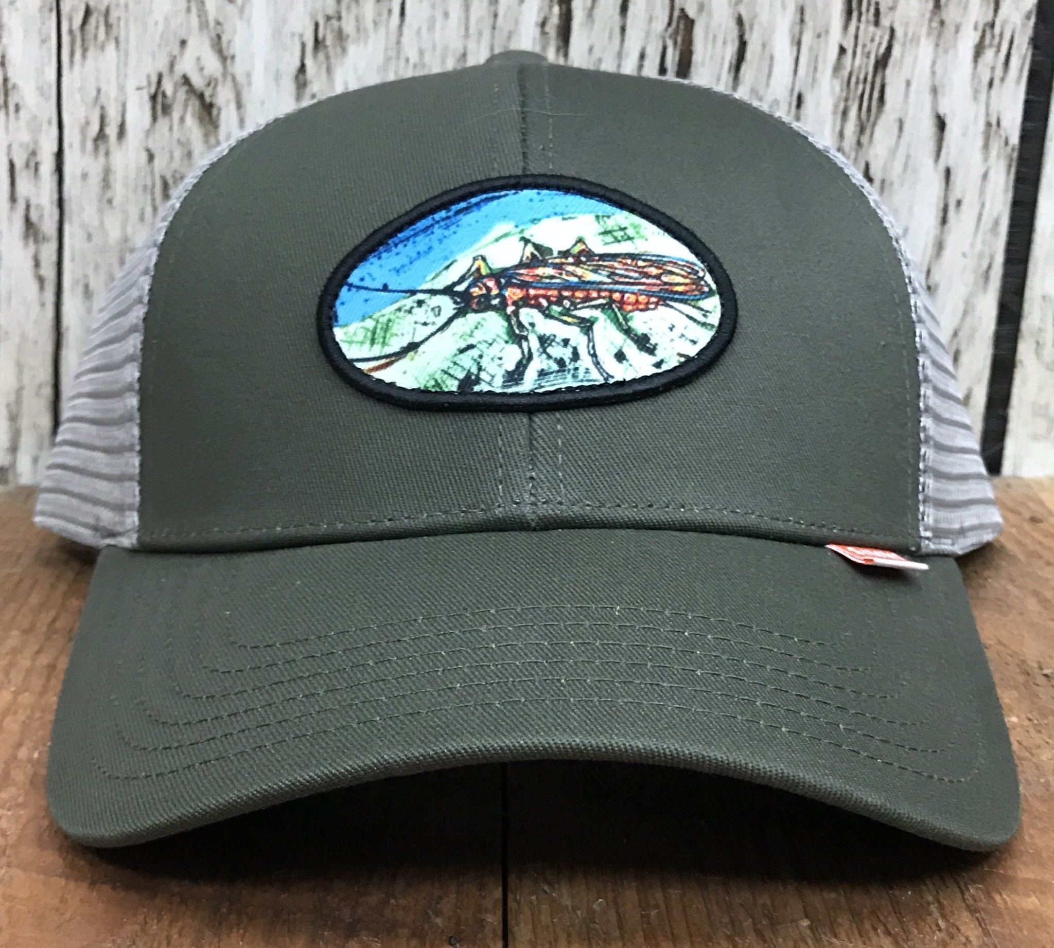 Simms Fishing Simms Salmon Fly Patch Trucker Olive