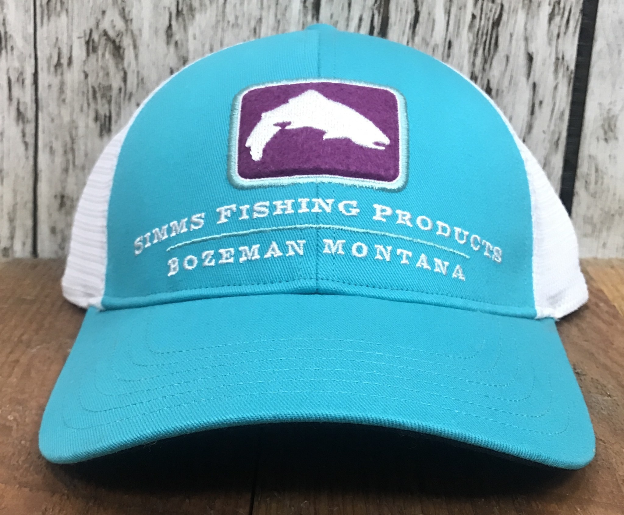 Simms Small Fit Trout Trucker Cap Cabana Blue 60% Off