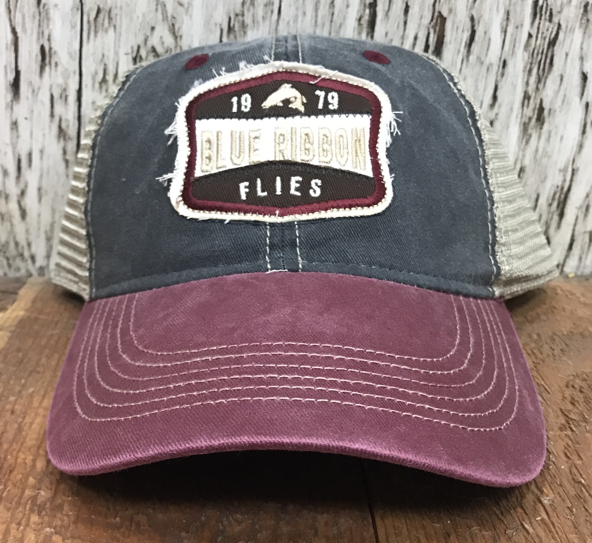 BRF Legend Mesh Cap - Maroon/Navy/Tan