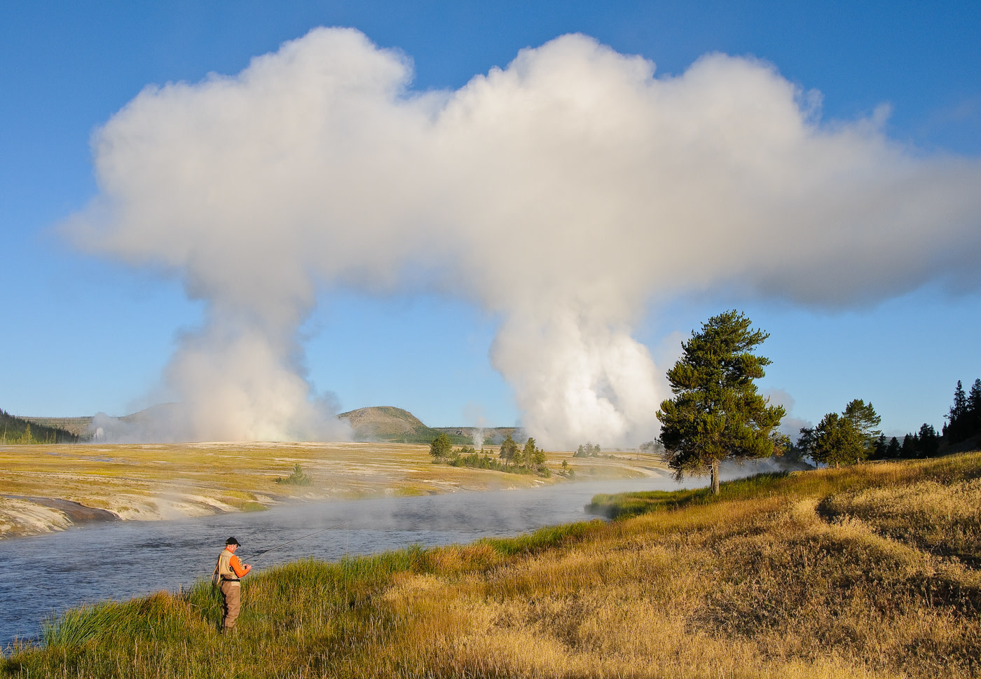 John Juracek Photos - Firehole River Geysers