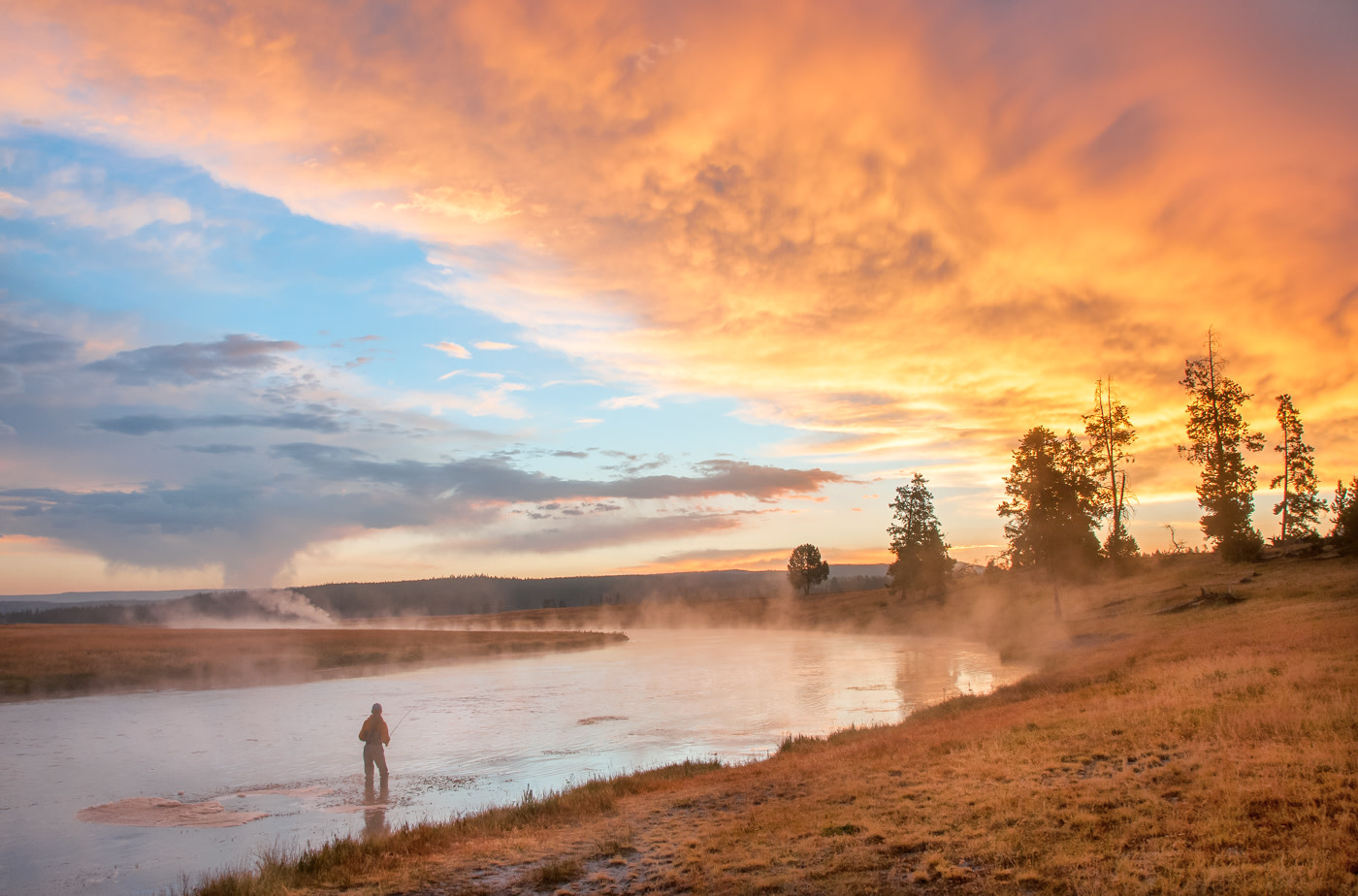 John Juracek Photos - Firehole Sunrise