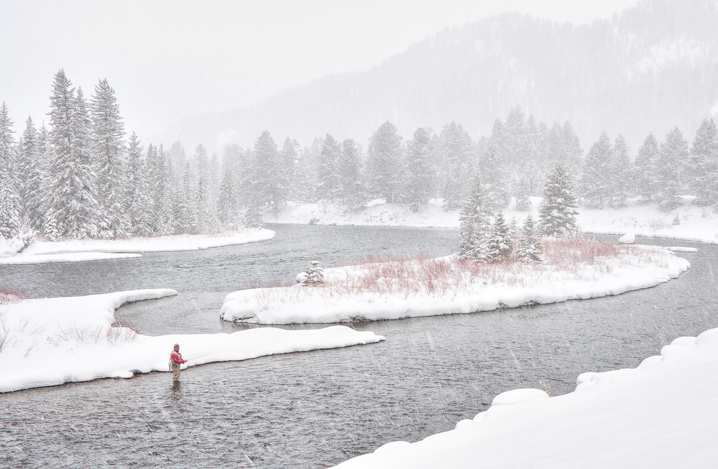 John Juracek Photos - Madison River in Winter