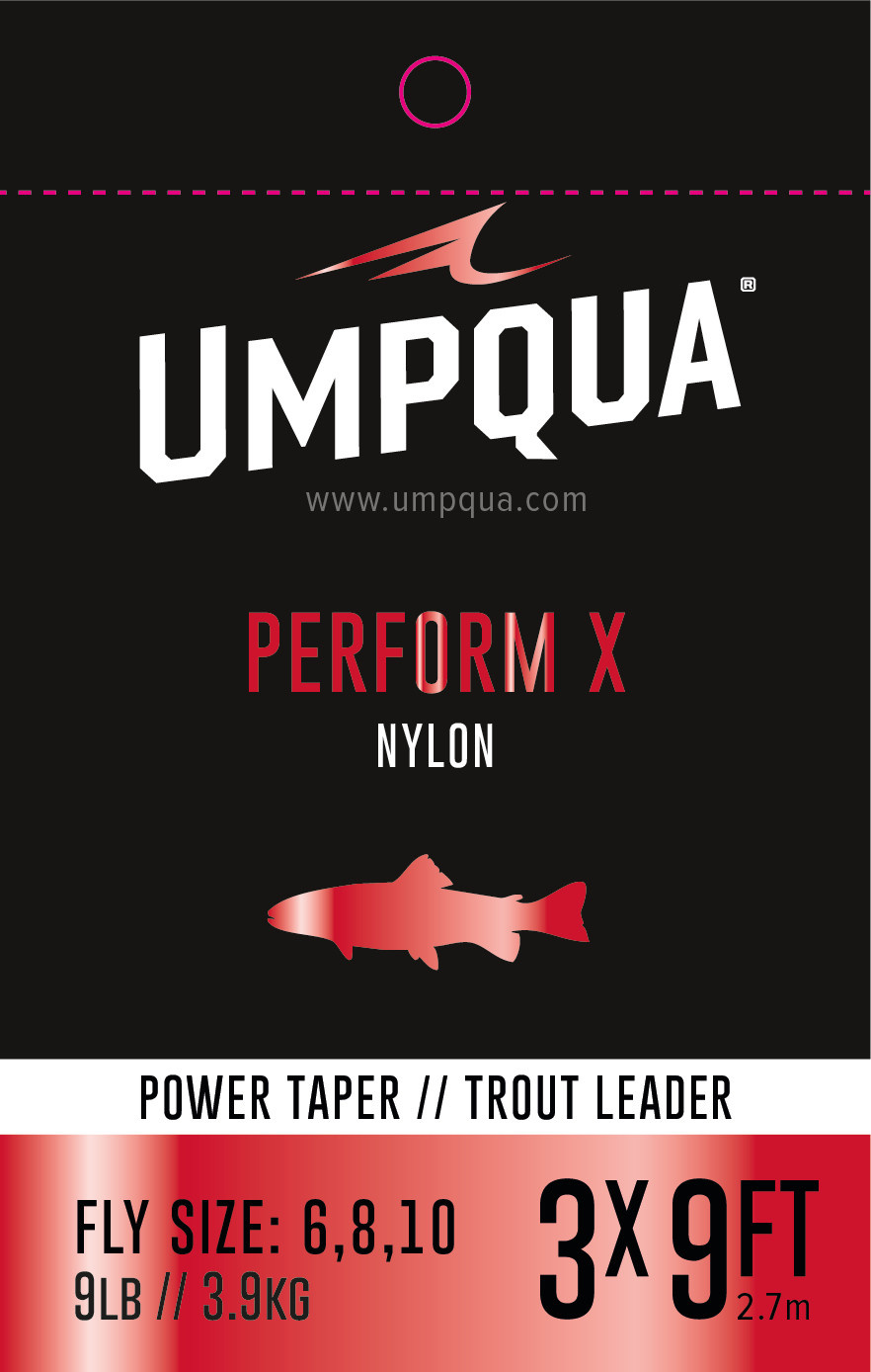 Umpqua Perform X Power Taper Trout Leader 3 Pack