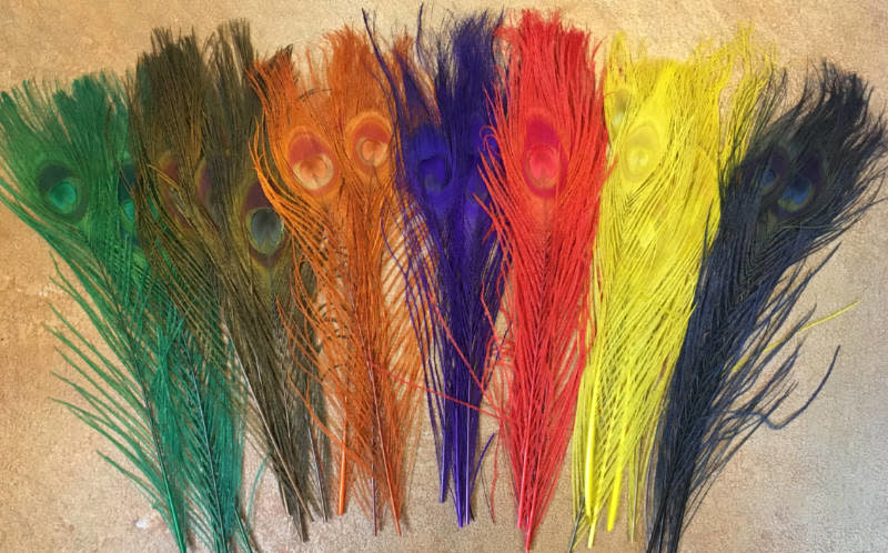 Dyed Peacock Sticks