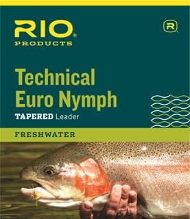 Rio Technical Euro Nymph Leader 14' 2X/4X Pink/Yellow