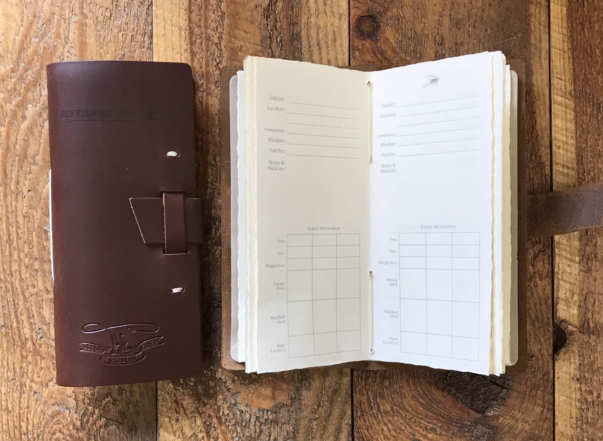 BRF Leather Fly Fishing Log
