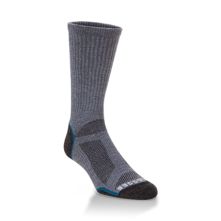 Hiwassee Light Weight Tech Sock -Charcoal/Blue Crew