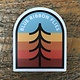 Blue Ribbon Flies Rainbow Tree Sticker