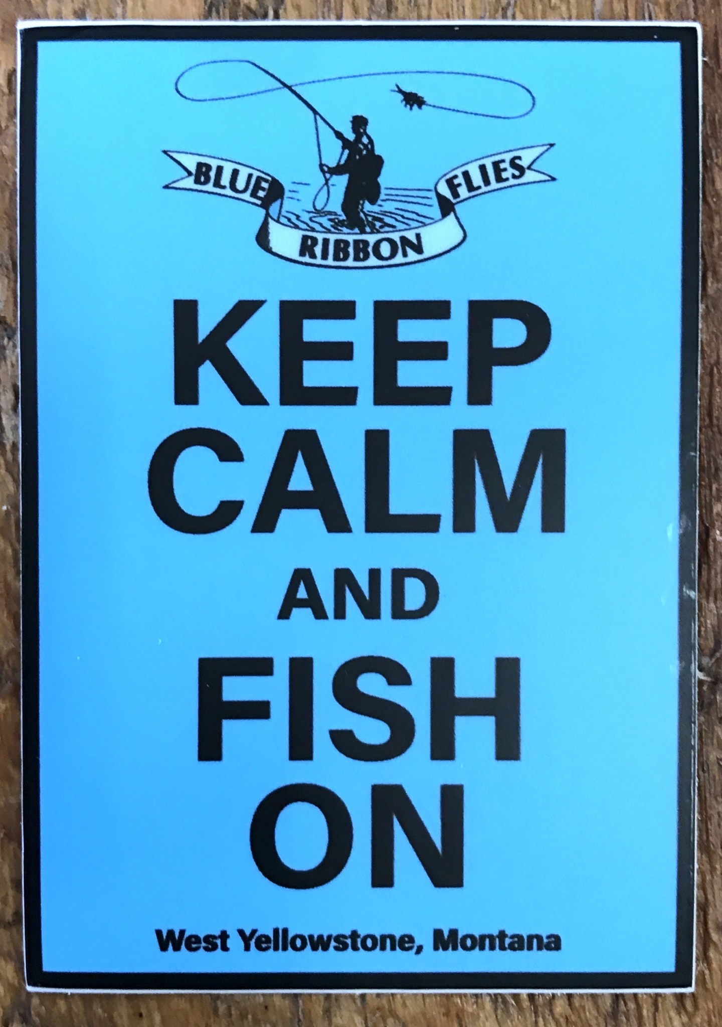 BRF Keep Calm & Fish On Sticker 3.5""