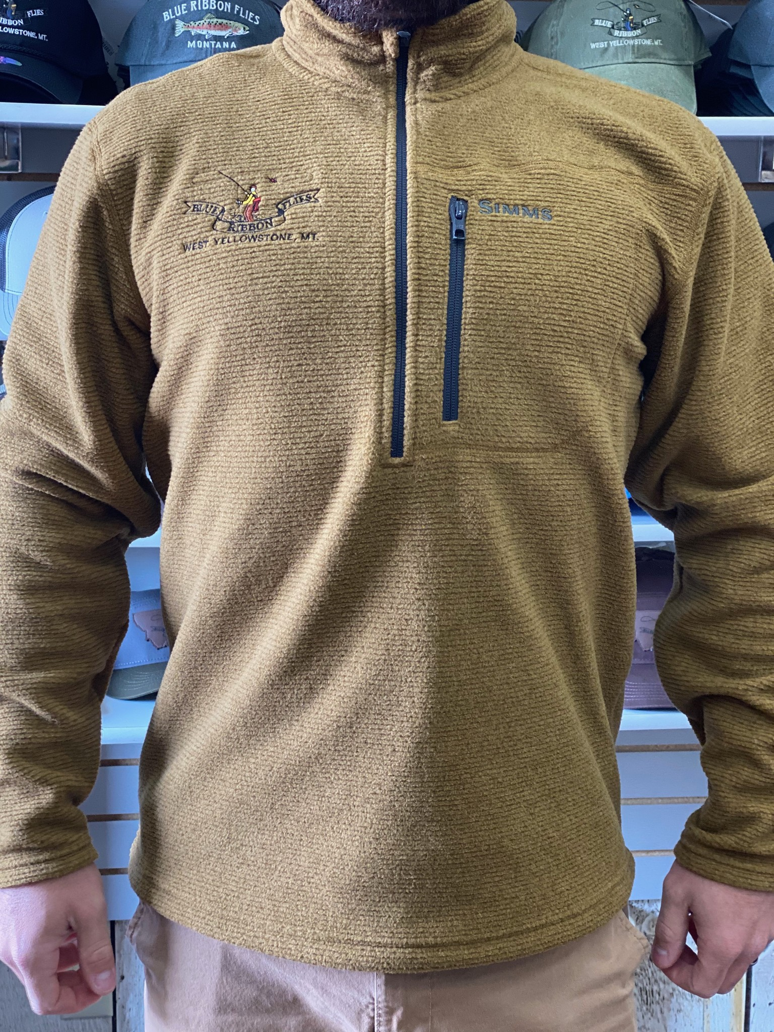 Simms Rivershed Quarter Zip Embroidered
