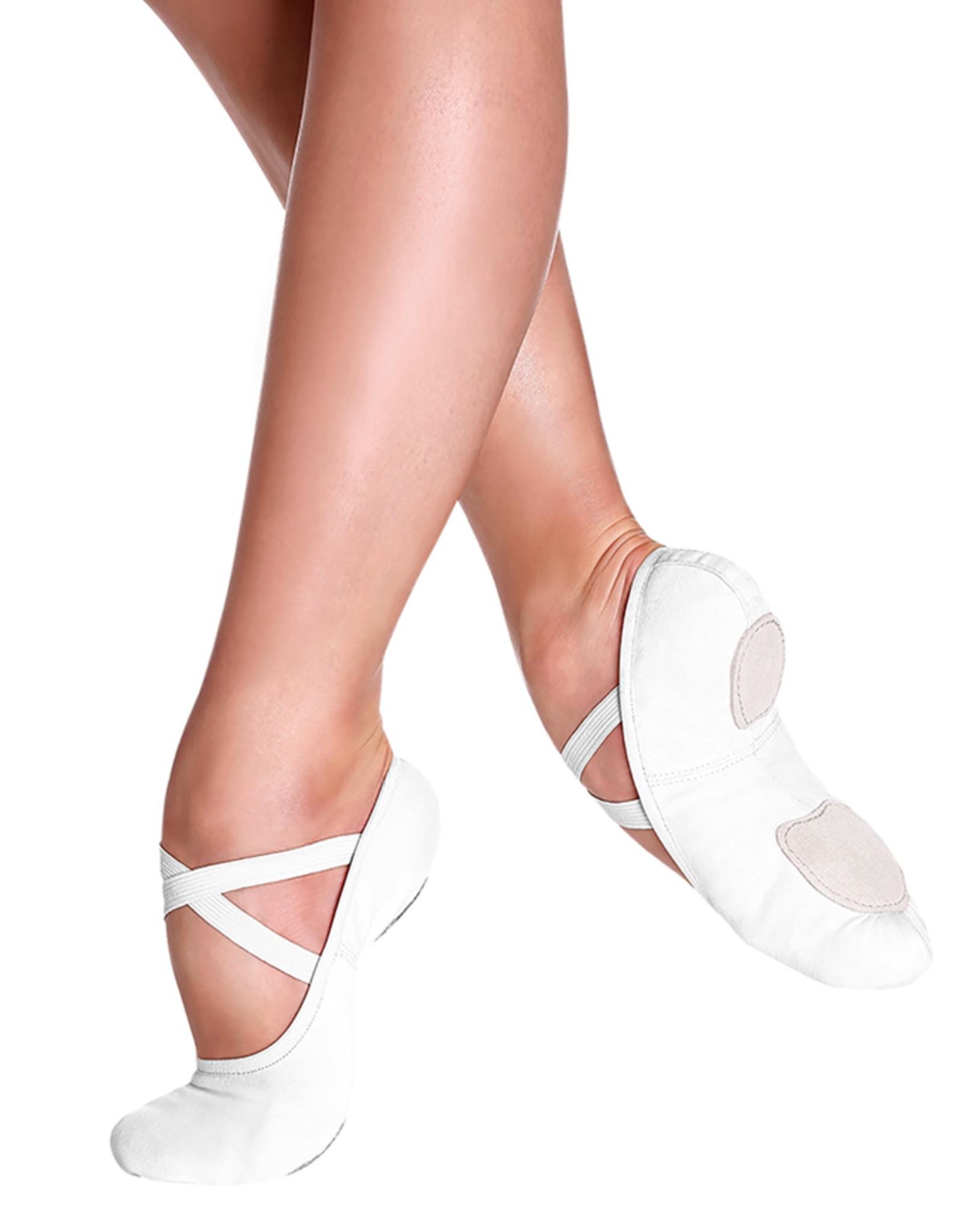 So Danca SD16L White Canvas Ballet Shoe Adult