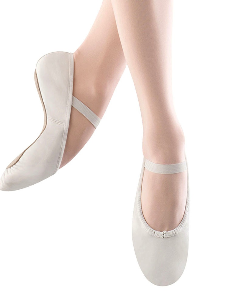 Bloch S0205L White Full Sole Leather Ballet Slipper Adult