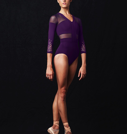 Bloch MJ7216 Mirella 3/4 Sleeve Cut Out Leotard Adult