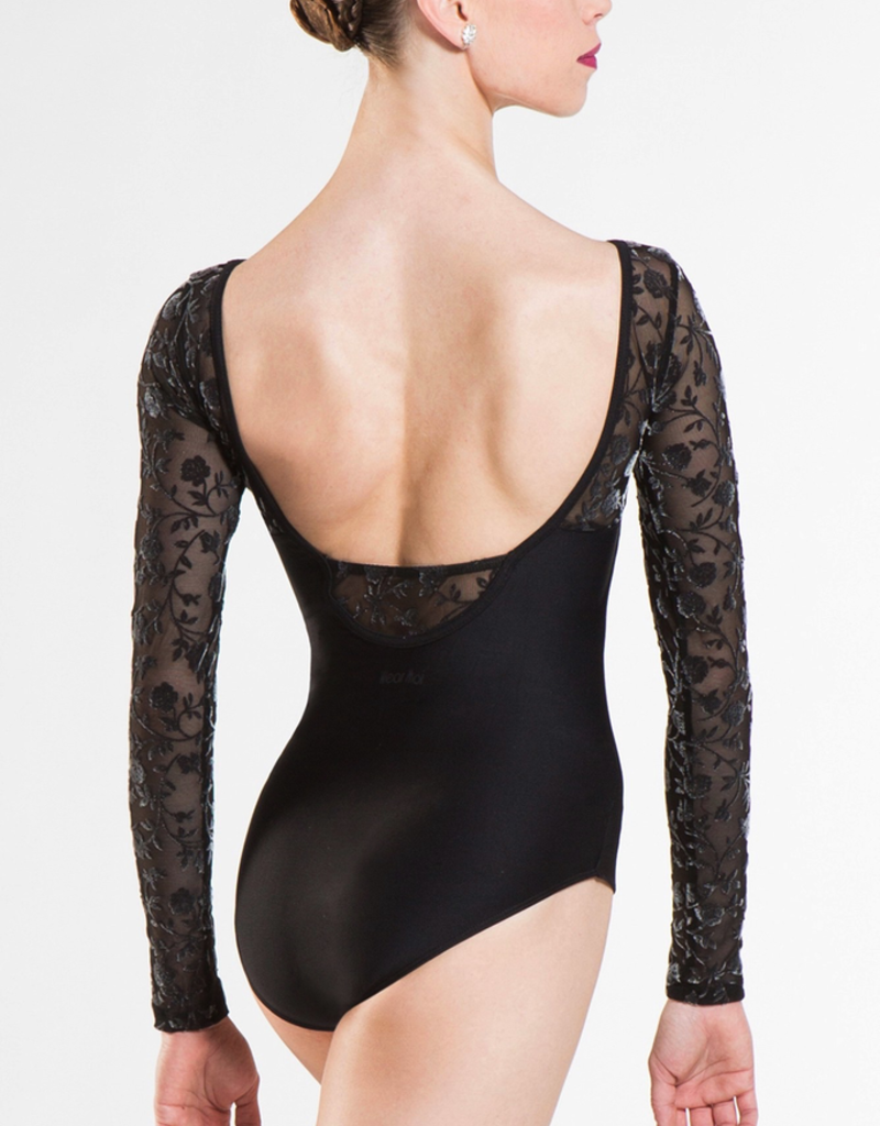 Wear Moi Sibelle Long Sleeve Flocked Tulle Leotard Adult