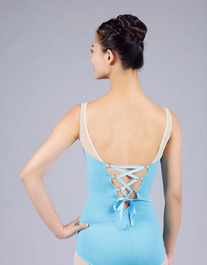 Xiao Xiao 1405 Leotard with Ribbon Lace Up Back Adult