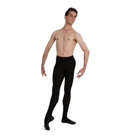 Capezio MT11 Mens Knit Footed Tights w/Back Seams Adult